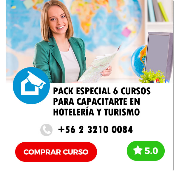 Curso E-learning Pack Especial 6 Cursos Online para Capacitarte en Hotelería y Turismo